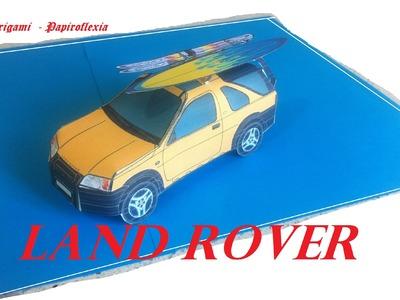 Paper Toys, Origami - Papiroflexia. Land Rover Freelander.