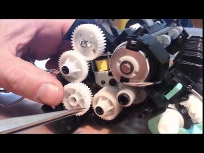 Reparación solenoide impresora laser Samsung CLX-3305W - error papel bandeja 1  - paper jam