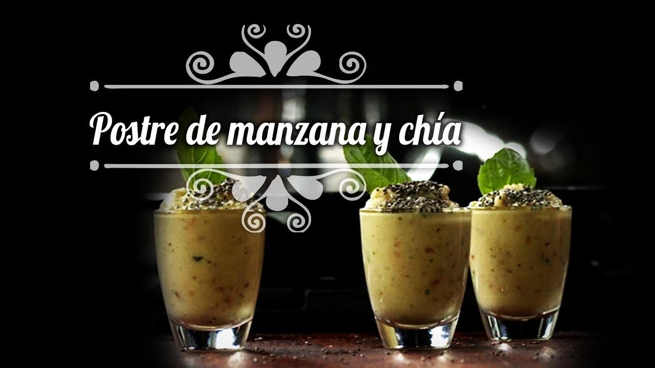 Chef Oropeza Receta: Postre de manzana y chía-Apple Dessert
