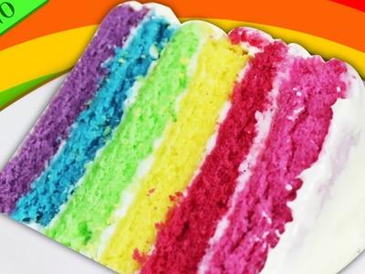 Como Hacer Torta Arcoiris | Bizcochos de Colores | Fácile Receta de Postre por HooplaKidz