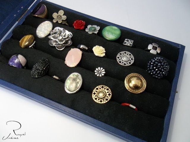 Como hacer un joyero organizador-expositor de anillos paso a paso. DIY