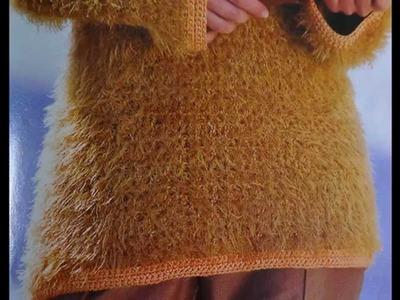 Como Tejer jersey con cenefas a crochet