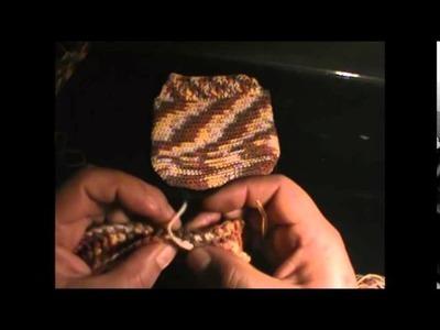 Cómo tejer una bolsita para niña a crochet. Parte 2 de 2.