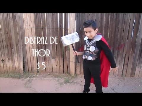 DISFRAZ DE THOR $5 PARA ESTE HALLOWEEN | DIY $5 THOR HALLOWEEN COSTUME