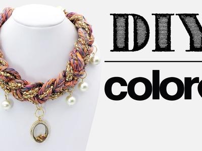 DIY Collar Hilo Trenzado y Relicario - Colore Accesorios