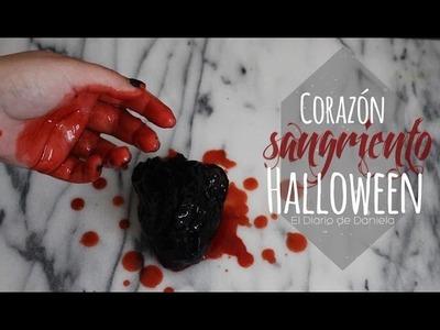 DIY CORAZÓN SANGRIENTO | HALLOWEEN | Corazón de gelatina