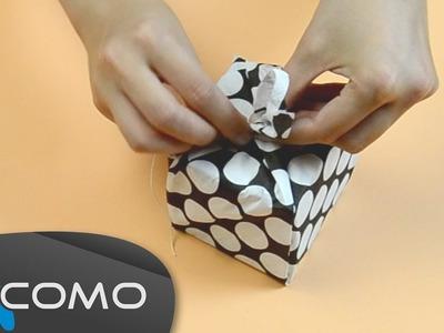 Envolver regalos con servilletas