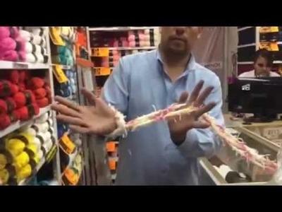 Filati Estambres Aprende a tejer Bufanda carnaval con las manos