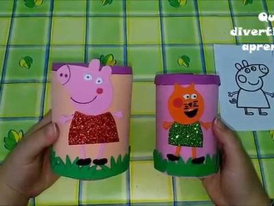 Haciendo un lapicero de Peppa pig.manualidades.niños.divertido