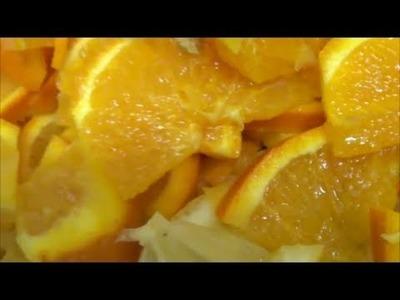 Mermelada de naranja casera, paso a paso.