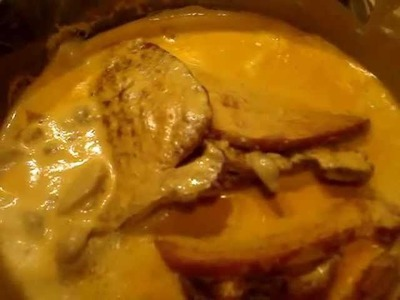 Receta Chuletas en Crema de Champiñones
