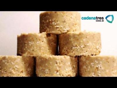Receta para preparar mazapanes de cacahuate tradicionales. Receta de mazapanes