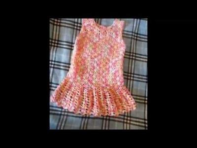 Vestido tejidos a crochet para niña de 4 años