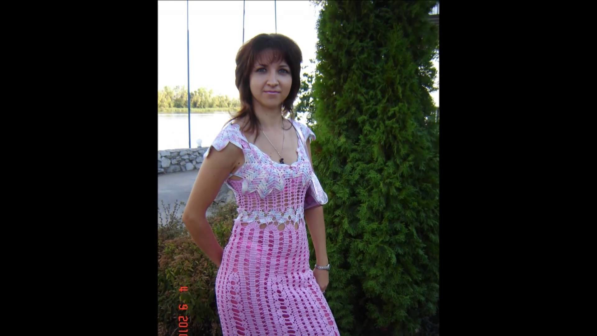 Vestidos para señoras tejidos a crochet