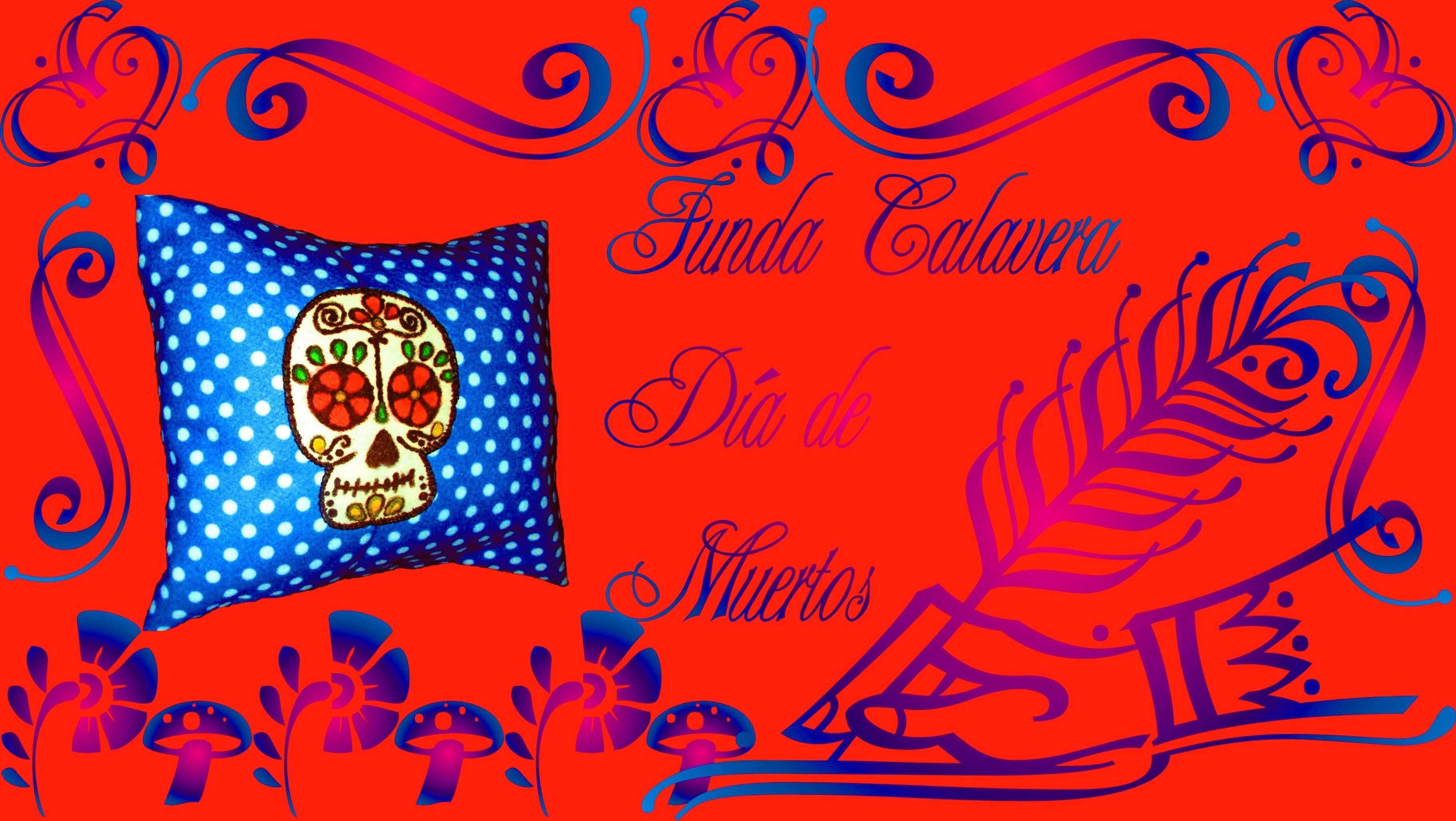 6.4.2 Holidays: Funda Calavera Día de Muertos (DIY) {Estuche de Monerías} [Halloween. Decoración]