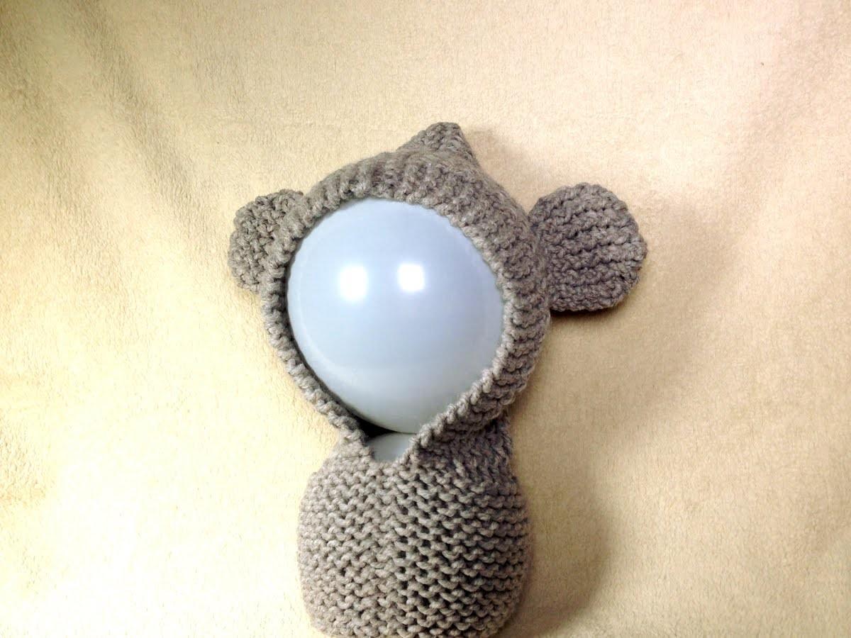 Cómo tejer con telar una capucha con orejitas de osito (Tutorial DIY)