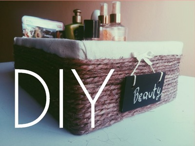 DIY - Cesta.canasta con caja de zapatos.