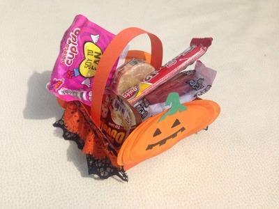 DIY: Dulcero calabaza día de muertos. halloween (papel)