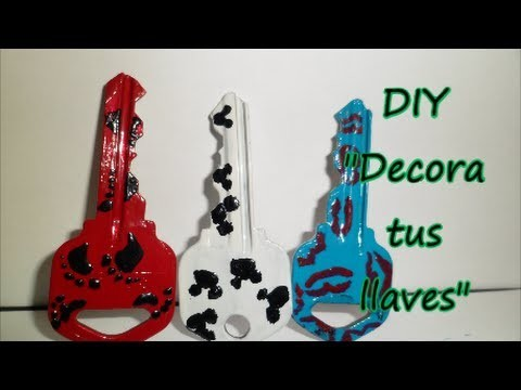 "DIY ""Key decorating with nail polish"" ""Decora tus llaves"""
