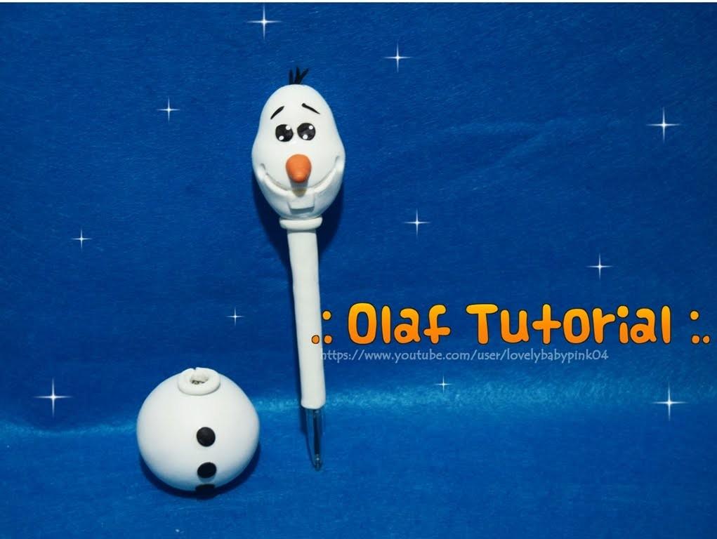 DIY Olaf Frozen. Cold porcelain easy pen holder. LBP Tutoriales