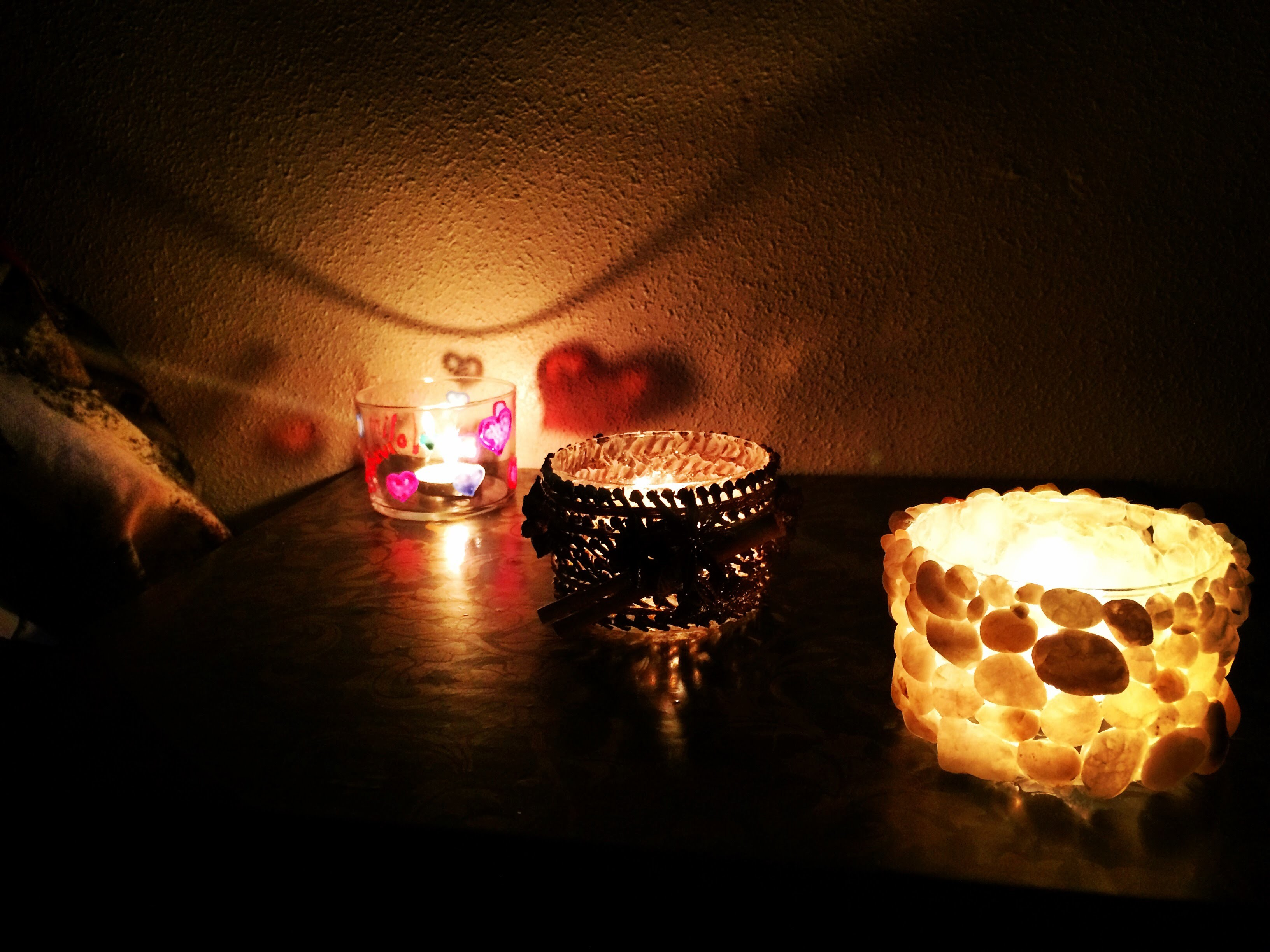 DIY Porta velas fácil  (make candle holders)