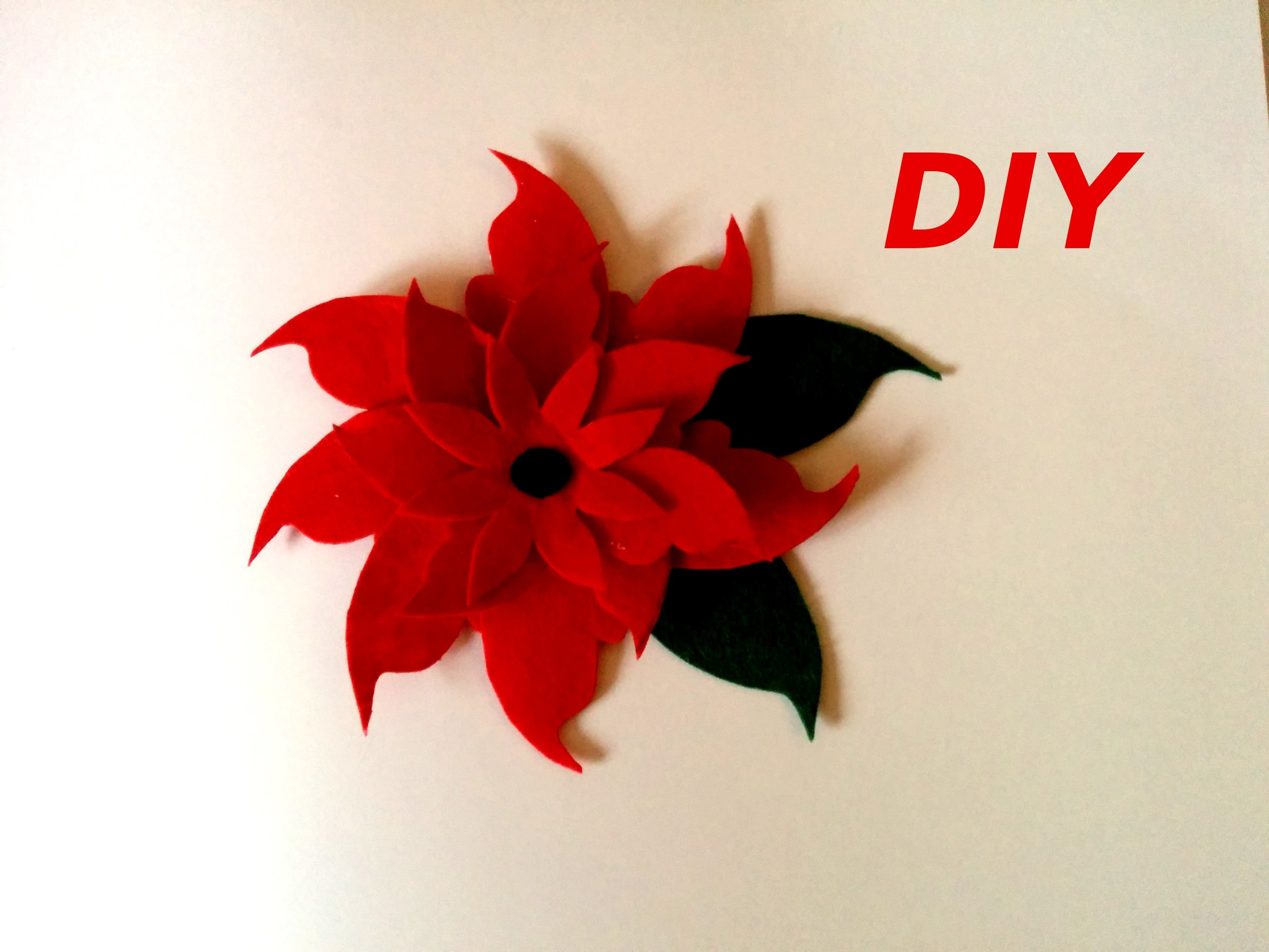 FLOR DE FIELTRO navidad, Christmas flower diy.