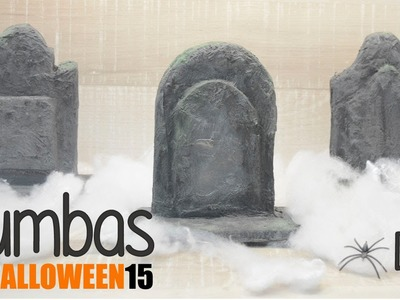 Haz tus propias TUMBAS - Halloween DIY