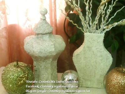 JARRÓN HECHO DE CARTÓN Y PAPEL. DIY  Vase made of cardboard