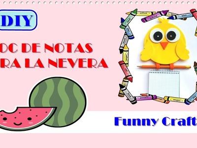 DIY ||  Bloc de notas para la nevera (^○^)