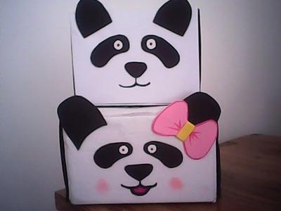 *diy* caja de osito panda