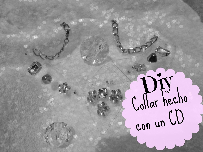 DIY  Ƹ̴Ӂ̴Ʒ  ♡♔Collar hecho con CD ♡♔ Necklace made With CD