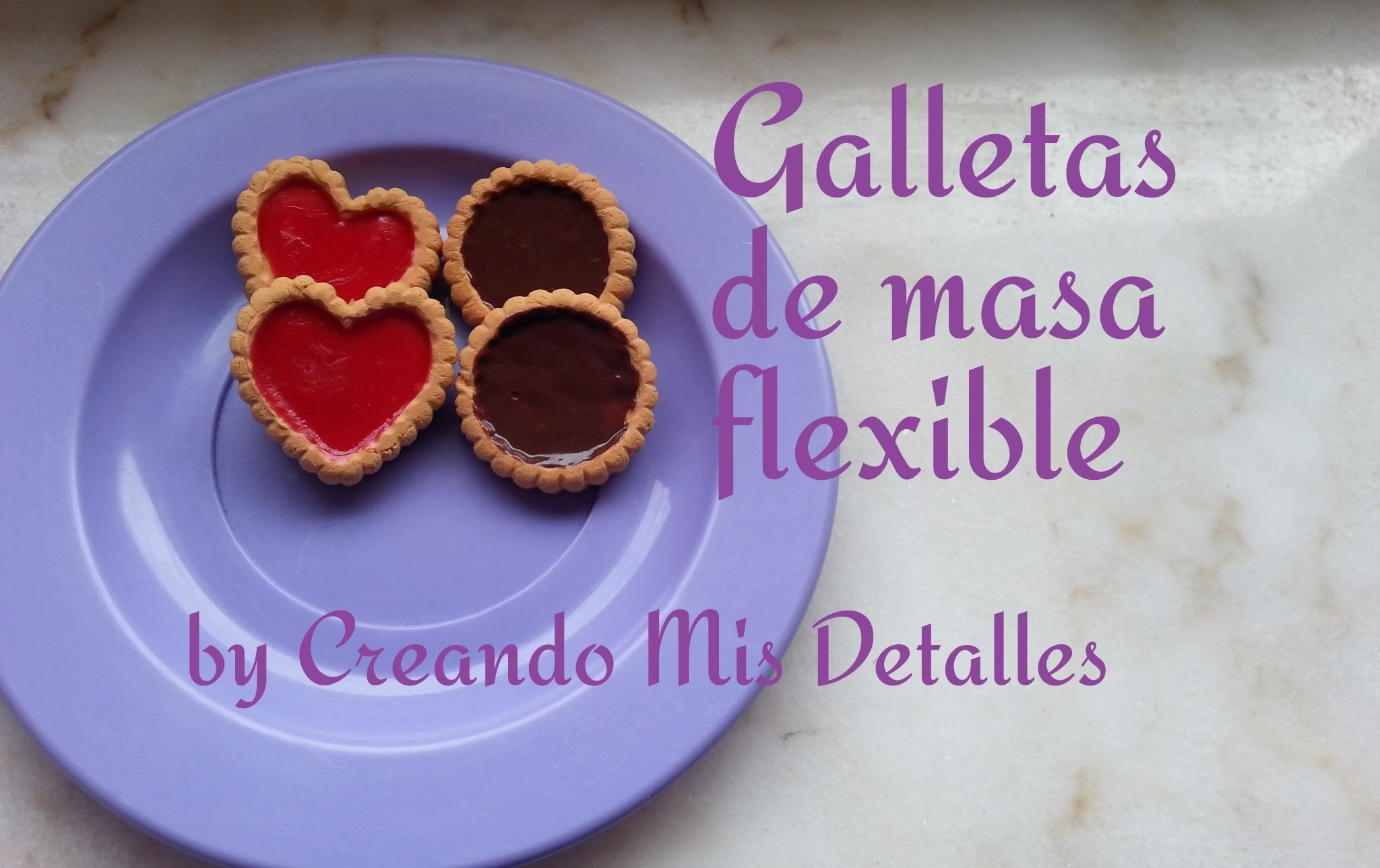DIY Galletas de masa flexible Sweets Deco - Air dry clay deco biscuit