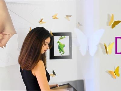 DIY MARIPOSAS. decora tu cuarto!!!