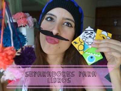 ¡SEPARADORES PARA TUS LIBROS! ♥ #DIY