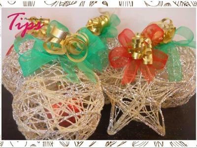 Manualidades de Navidad - Esferas Navideñas -  DIY - Ideas de Navidad