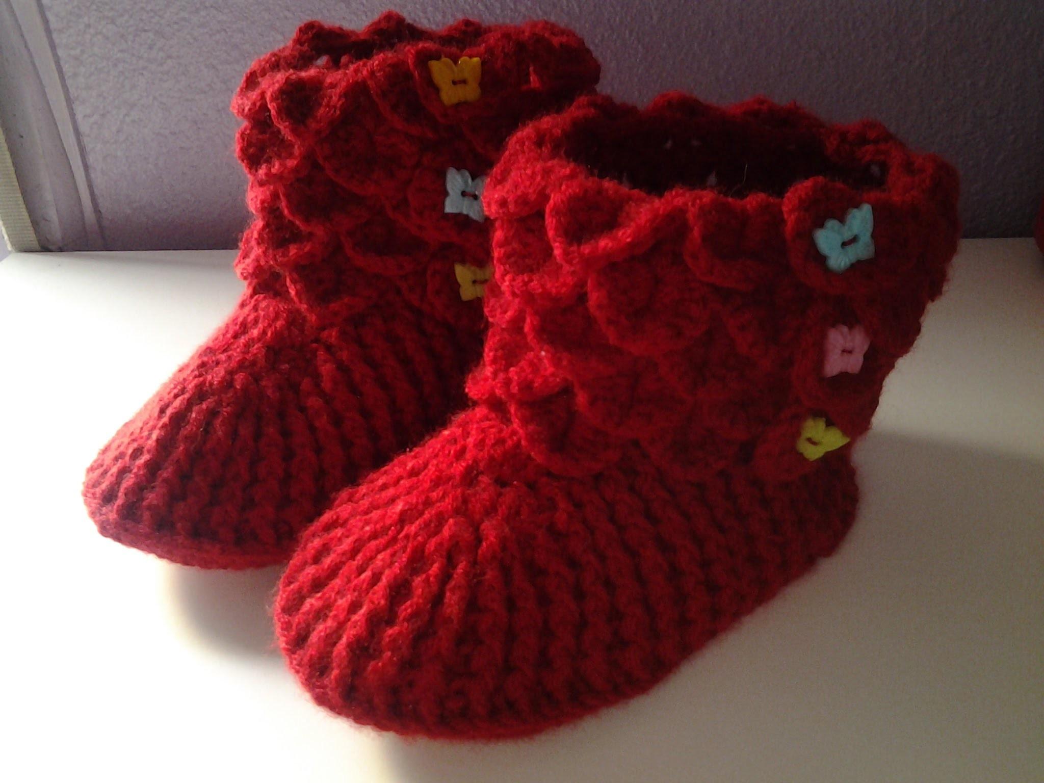 Botines cocodrilo  a crochet (ganchillo)  1 # tutorial DIY