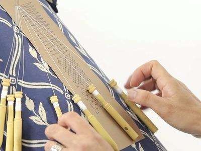 Cómo hacer el punto entero o punto de lienzo - Encaje de bolillos