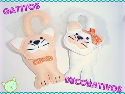 Como hacer gatos de peluche en fieltro ♥ DIY: ¡Haslo tu mismo! ♥ Manualidades