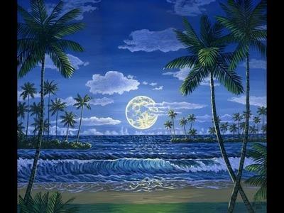 ¿Cómo pintar la luna 1 utilizando pintura acrílica sobre tela