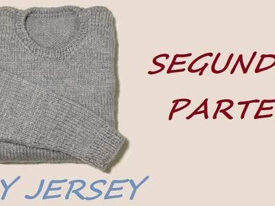 Cómo tejer jersey de hombre, 2a de 3 partes (delantera y espalda)
