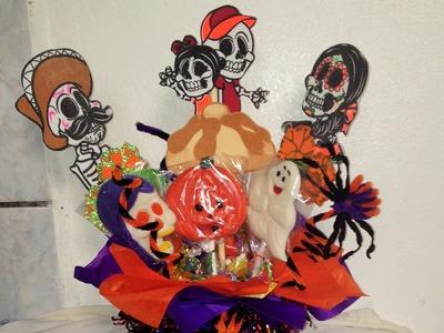 DIY centro de mesa Halloween día de Muertos centrepiece, ideas