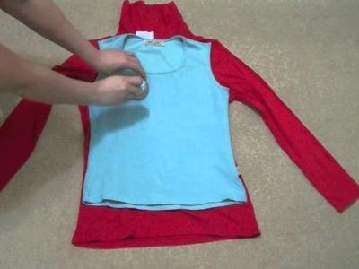 DIY Reconstrucción o Transformación de una camiseta