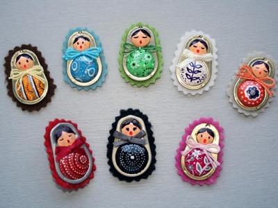 Matrioshka o muñecas de anillas de latas paso a paso