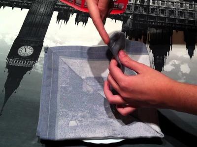 Servilletas decorativas: cómo doblar una servilleta en forma de corazón