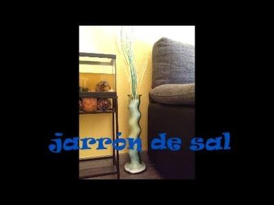 Como decorar un jarrón con sal (económico y original) manualidades