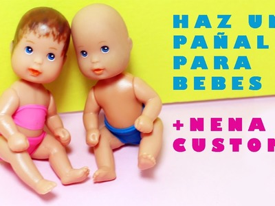 Cómo hacer pañales para los bebes de Barbie - Manualidades para muñecas