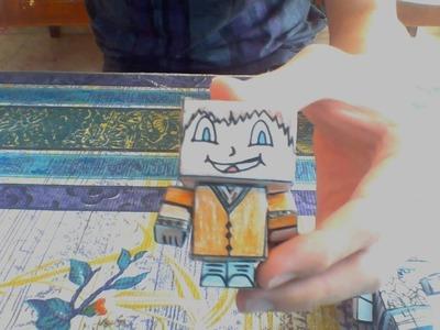 Como hacer un muñeco de papel | Manualidades :3