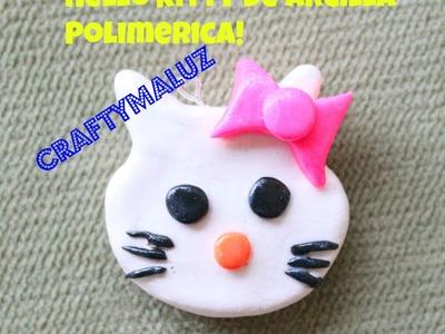 ♥ DIY : Hello Kitty Polymer Clay Charm. Hello Kitty De Arcilla Polimerica!