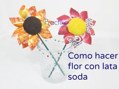 FLORES DE LATAS DE SODA  – MANUALIDADES Y RECICLAJE FACIL