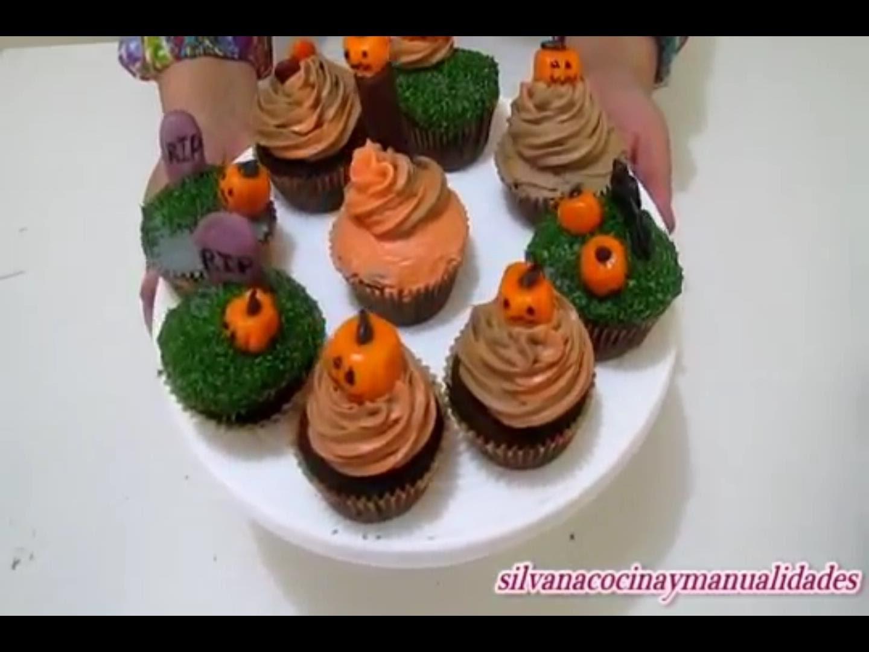 Halloween!!! Cupcakes de Chocolates de terror !!!- Silvana Cocina Y Manualidades